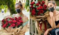 Võ Hoàng Yến khoe vòng 1 sexy, được tặng hoa hồng ở khu cách ly
