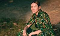 Võ Hoàng Yến tung bộ ảnh cuối cùng ở khu cách ly, hoá nữ quân nhân xinh đẹp