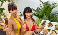Em gái Hà Anh 'đốt mắt' với bikini, nóng bỏng không kém chị gái khi cách ly trong villa
