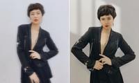 Ngọc Hân 'chơi lớn' cắt tóc tém, mặc vest khoe vòng một khiến fans 'trầm trồ'