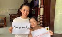 Hoa hậu Tiểu Vy thực hiện giãn cách xã hội ở quê nhà Đà Nẵng.