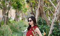 Hoa hậu Thu Thảo khoe khéo bụng bầu, đẹp 'xuất thần' ở những tháng cuối của thai kỳ