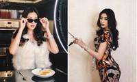 Khánh Vân mặc bộ thun lạnh giá 120 ngàn của mẹ, phối cùng đồ hiệu cực sang chảnh
