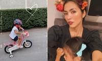 Tăng Thanh Hà hiếm hoi khoe ảnh cận mặt con gái đáng yêu khiến fans thích thú