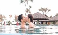 Khánh Thi nóng bỏng với bikini, hôn Phan Hiển say đắm trên biển Vũng Tàu