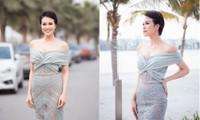 MC Phương Mai mặc váy xuyên thấu, khoe vòng 1 'bỏng mắt' sau 6 tháng sinh con