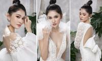 Á hậu Thuỳ Dung diện loạt váy cưới cắt xẻ khoe vòng một nóng bỏng