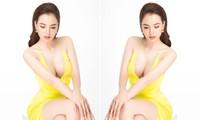 Hoa hậu Diễm Hương diện váy xẻ ngực sâu nóng bỏng