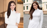 Dàn Hoa hậu, Á hậu đăng ảnh áo dài trắng gửi lời chúc mừng ngày Báo chí CMVN 21/6