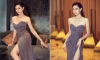 Lương Thuỳ Linh mặc váy xẻ táo bạo khoe vòng 1 nóng bỏng và đôi chân dài 1m22