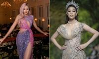 H'Hen Niê mặc váy xuyên thấu xẻ ngực táo bạo, Khánh Vân đội vương miện diễn thời trang