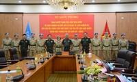 Lễ trao quyết định và giao nhiệm vụ cho các sĩ quan đi làm nhiệm vụ GGHB Liên Hợp Quốc.
