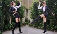 Võ Hoàng Yến mặc váy siêu ngắn khoe chân dài 1m13 'cực phẩm'