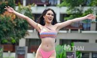 Á hậu Thái Lan tái hiện màn catwalk lốc xoáy thần sầu, bonus thêm 3 vòng xoay cực 'đỉnh'