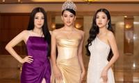 Dàn Hoa hậu, Á hậu lộng lẫy khoe sắc trên thảm đỏ họp báo Hoa hậu Việt Nam 2020