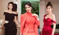 Gu thời trang quyến rũ, quyền lực của bộ ba giám khảo xinh đẹp HHVN 2020