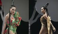 Siêu mẫu Hà Anh tái xuất sàn diễn thời trang, khoe thân hình đồng hồ cát nóng 'bỏng mắt'