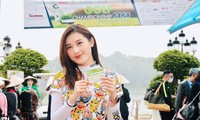 Á hậu Huyền My hào hứng tham dự giải Tiền Phong Golf Championship 2020. Ảnh: Xuân Tùng.