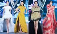 Hoa hậu Đỗ Mỹ Linh, Tiểu Vy, Kỳ Duyên 'đọ' catwalk điêu luyện trên sàn runway dài 40m