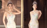 Hoa hậu Tiểu Vy diện váy yếm gợi cảm, 'đọ sắc' cùng dàn hậu đình đám tại Vũng Tàu