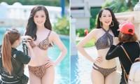 Hé lộ hậu trường chụp bikini nóng bỏng của dàn thí sinh HHVN 2020