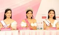 Top 3 Hoa hậu Việt Nam 2020 rạng rỡ gặp gỡ báo giới sau đêm đăng quang