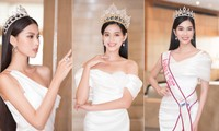 Đỗ Thị Hà, Phương Anh, Ngọc Thảo diện váy xẻ cao khoe vẻ quyến rũ sau đêm đăng quang