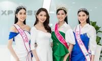 Top 3 HHVN 2020 khoe chân dài nóng bỏng, 'đọ sắc' bên Á hậu Thuỳ Dung