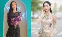 Hoa hậu Thuỳ Dung tái xuất xinh đẹp, Lương Thuỳ Linh diện áo dài đính kết lạ mắt