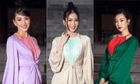 Tiểu Vy, Đỗ Mỹ Linh cùng dàn hậu mặc váy yếm quyến rũ giữa tiết trời lạnh giá