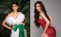 Hoàng Thuỳ diện váy lông vũ khoe vai trần sexy, Minh Tú nóng bỏng với style 'drag queen'