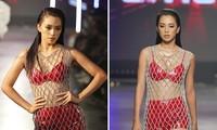 Hoa hậu Tiểu Vy mặc váy lưới xuyên thấu khoe đường cong 'cực phẩm' trên sàn catwalk