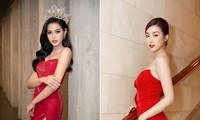 'Đụng' váy xẻ táo bạo với đàn chị Đỗ Mỹ Linh, Hoa hậu Đỗ Thị Hà thần thái rạng ngời