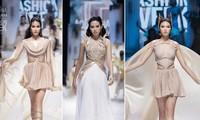 Top 3 Hoa hậu Việt Nam 2020 liên tục toả sáng trên sàn catwalk sau 1 tháng đăng quang