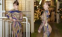 Mặc lại váy gây tranh cãi của Thái Thị Hoa, Quỳnh Nga khoe 3 vòng nóng bỏng