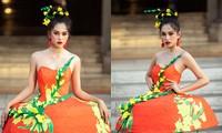 Hoa hậu Tiểu Vy diện váy dáng phồng lạ mắt, khoe chân dài cực gợi cảm trên sàn catwalk