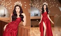 Tiếp tục chinh phục gam màu đỏ, Hoa hậu Đỗ Thị Hà khoe đôi chân 'cực phẩm'