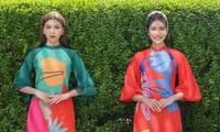Á Hậu Phương Anh - Ngọc Thảo khoe trọn thần thái xinh đẹp, yêu kiều với áo dài Tết