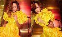Diện lại sắc vàng từng 'gây bão' ở Miss Universe, H'Hen Niê đẹp rạng rỡ như một đóa hồng