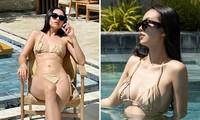 Chuẩn bị lên xe hoa, Á hậu Thúy An tung loạt ảnh bikini sexy trong tiệc chia tay độc thân
