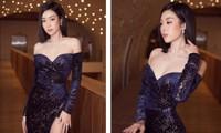 Diện váy xẻ cao, Hoa hậu Đỗ Mỹ Linh khoe chân dài miên man cực nóng bỏng