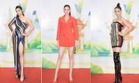 Khánh Vân, Võ Hoàng Yến, Hoàng My diện váy xẻ bạo khoe chân dài nóng bỏng