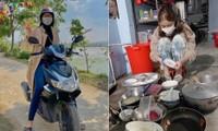 BẢN TIN HOA HẬU 30 TẾT: Đỗ Thị Hà giản dị lái xe máy đi chợ, Kiều Loan cặm cụi rửa bát