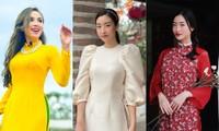 Ngắm loạt áo dài vừa nền nã vừa xinh đẹp của dàn hoa hậu, á hậu dịp Tết Tân Sửu