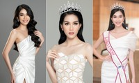 Gam màu trắng thanh lịch là 'chân ái' của Á hậu Phương Anh tại Miss International 2021