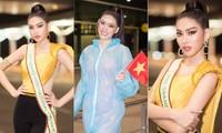 Mặc đồ bảo hộ bay sang Thái Lan thi Miss Grand, Á hậu Ngọc Thảo vẫn xinh đẹp rạng rỡ