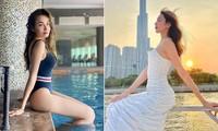Hoa hậu Diễm Hương nóng bỏng với áo tắm, Người đẹp Nhân ái Thùy Tiên quyến rũ trên du thuyền