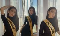 Lần đầu đeo sash Miss Grand Vietnam ở Thái Lan, Ngọc Thảo mặc váy bó sát gợi cảm gây chú ý