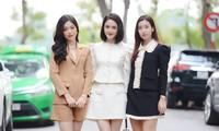 Dàn Hoa, Á hậu đọ sắc xinh đẹp tại họp báo Tiền Phong Marathon 2021