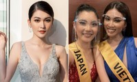 Á hậu Thuỳ Dung diện váy xẻ vòng 1 nóng bỏng, Ngọc Thảo bắt đầu 'bung lụa' tại Miss Grand